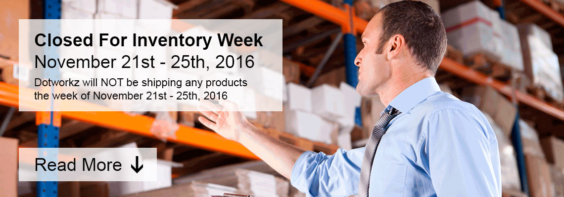 dotworkz 2016 closed for inventory week