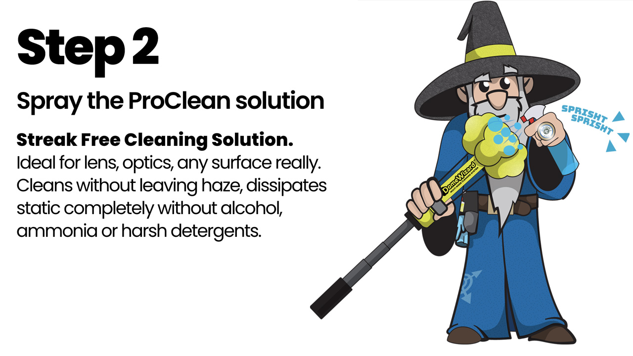 Step 2: Spray the ProClean solution