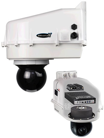 dotworkz 2021 d2 with br-q61 bracket for look up cameras